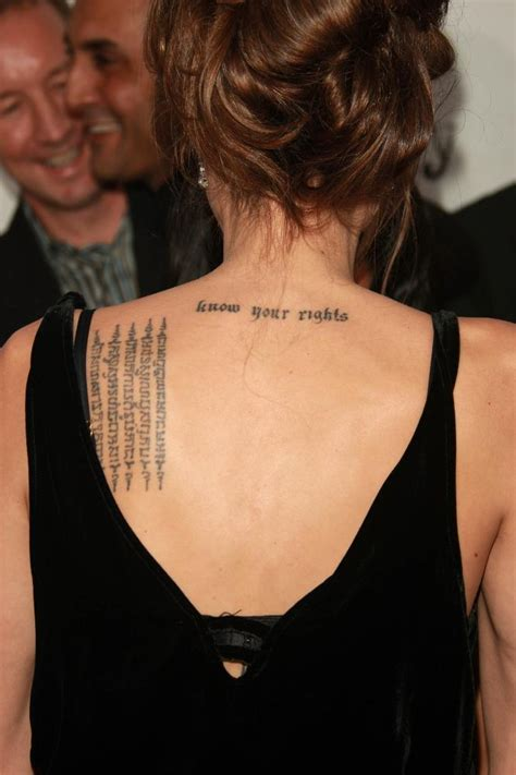 angelina jolie tattoos stock free images
