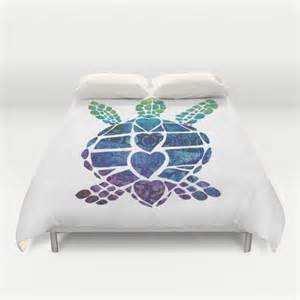 Sea Turtle Bedding Items Similar To Sea Turtle Duvet Cover Or Comforter