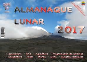 Calendario Lunar Colombia 2017 Almanaque Agricola Lunar 2017 Calendario