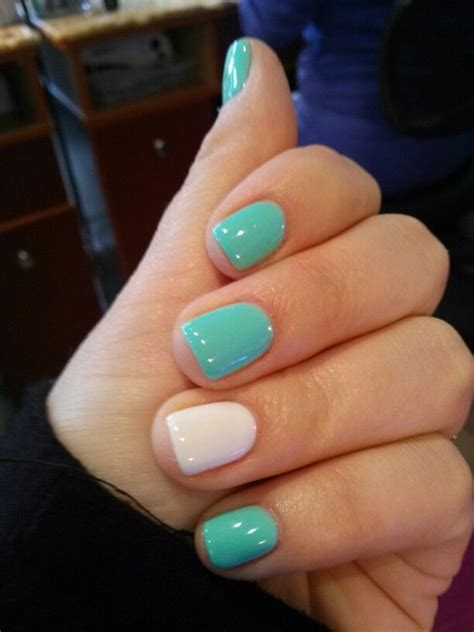 shellac mintwhite nail design nail art nail salon