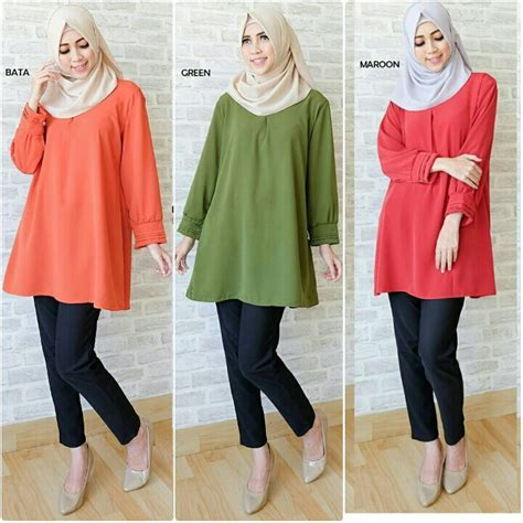 Baju Muslim Blus Muslim Blouse 29 888 best baju gamis terbaru images on pj muslim and niqab