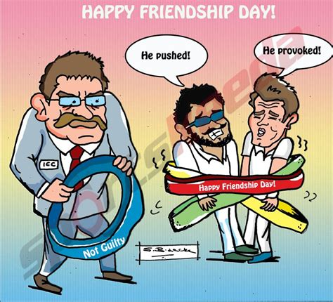 comic england v india happy friendship day