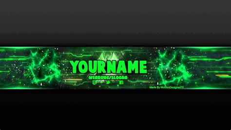 youtube banner template greenpsd photoshop youtube