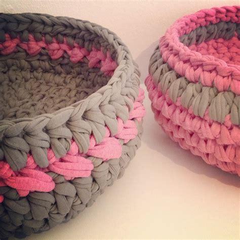 crochet basket pattern with t shirt yarn 26 crochet basket patterns for beginners patterns hub