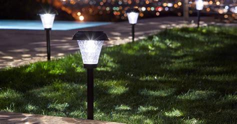 solar fence post lights costco outdoor lights costco and outdoor lighting menards also