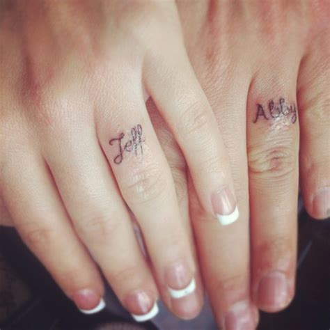 tattooed wedding bands team wedding wedding band tattoos ideas inspiration