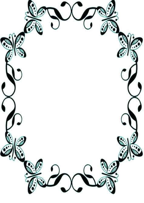 butterfly border template template butterfly border template