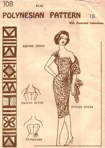 hawaiian sarong dress pattern 60 best tiki style images on pinterest goodwill thrift
