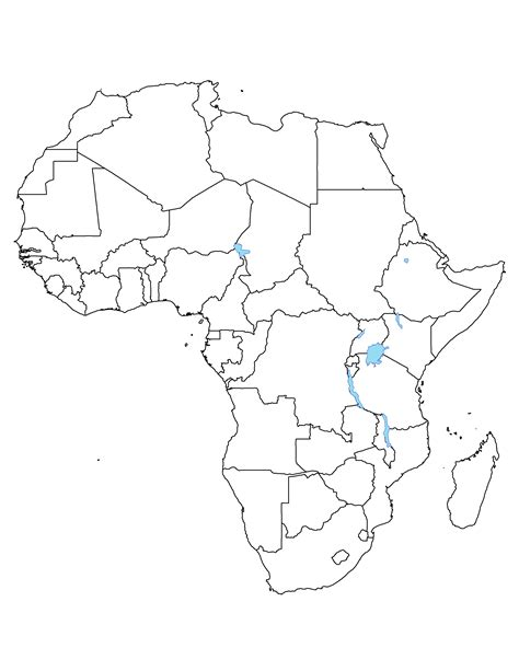 africa political outline map full size