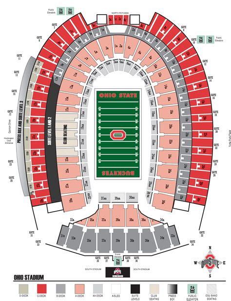 ohio state stadium seating chart larger stadium seating diagram for easier viewing
