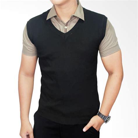 Vest Rompi Nikon Hitam jual gudang fashion rom 310 vest for mens suit rajut hitam rompi pria harga kualitas