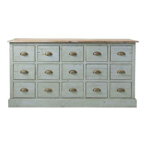 meuble comptoir comptoir multi tiroirs meuble de m 233 tier en bois recycl 233
