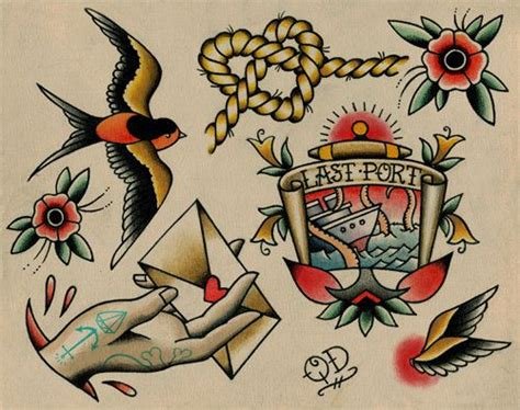 306 Best Images About Tattoo Flash Art On Pinterest Nautical Flash 2