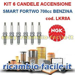 candele smart kit 6 candele accensione smart fortwo 700 benzina ngk