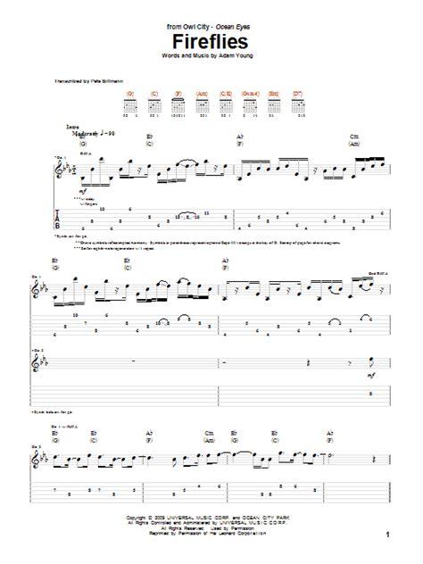 Owl City Fireflies Guitar Chords