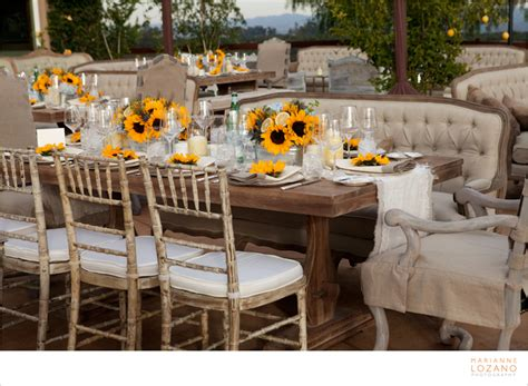 sunflower table settings rustic the of entertaining