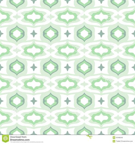 pattern background mint pattern with arabic motifs in cool mint green stock vector