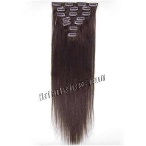 30 inch human hair extensions 30 inch 2 brown clip in human hair extensions 8pcs