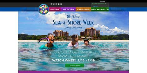 Disney Hawaii Sweepstakes - wheel of fortune disney sea shore week sweepstakes tune in february 15 19