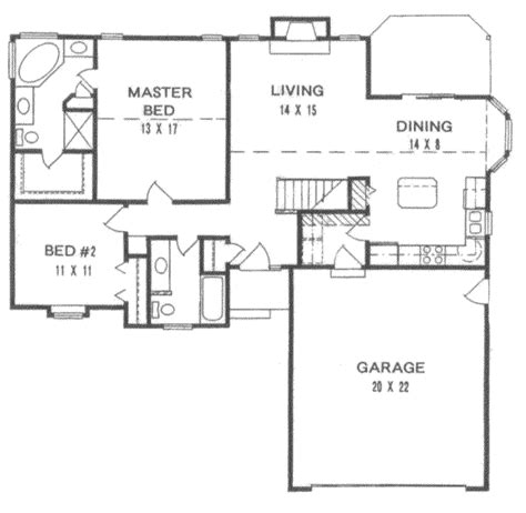 1200 square foot floor plans traditional style house plan 2 beds 2 baths 1200 sq ft