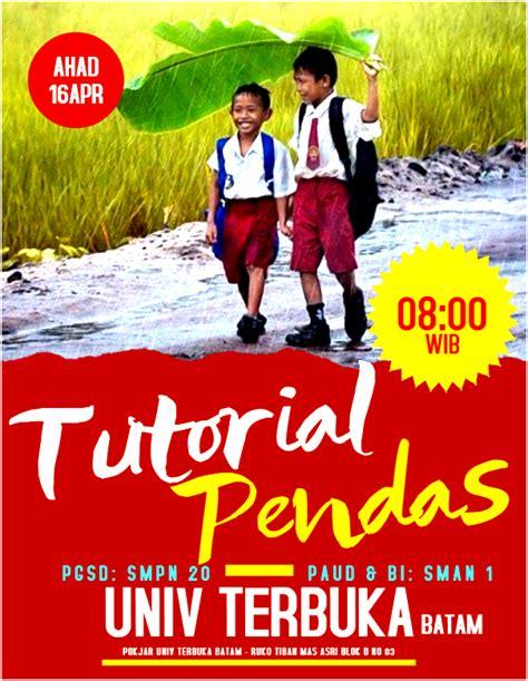 jadwal tutorial ut jadwal pelaksanaan tutorial wajib pendas 20171 pokjar ut