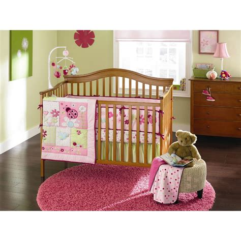 Ladybug Crib Bedding Set by Small Wonders 4 Ladybug Blossom Crib Bedding Set