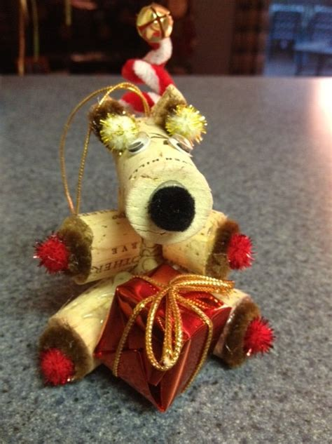 wine cork reindeer christmas ornament