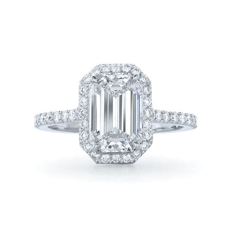 emerald cut halo engagement rings hd emerald and