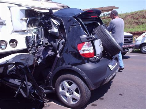 smart car crash car crash smart car crashes into truck