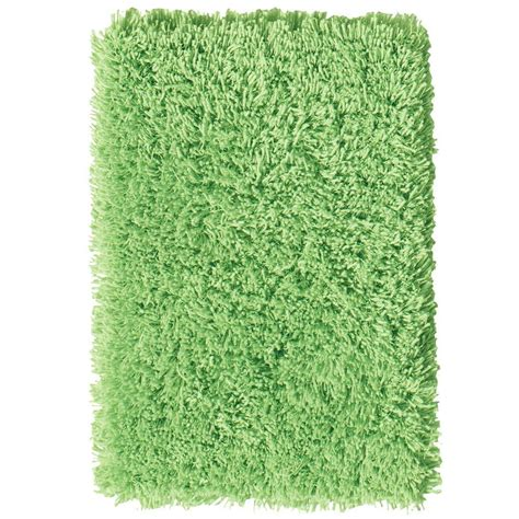 Lime Green Area Rug Home Decorators Collection Ultimate Shag Lime Green 6 Ft X 9 Ft Area Rug 7575491620 The Home