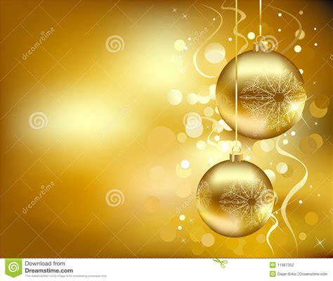clipart natalizi decorazioni dorate di natale illustrazione vettoriale