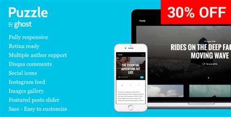 blog themes for ghost puzzle responsive ghost blog theme themekeeper com