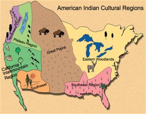 american tribe map by regions social studies resources mrs valdez s class