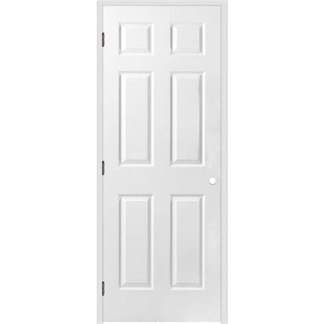 26 Prehung Interior Door Shop Reliabilt 6 Panel Hollow Textured Molded Composite Right Interior Single Prehung