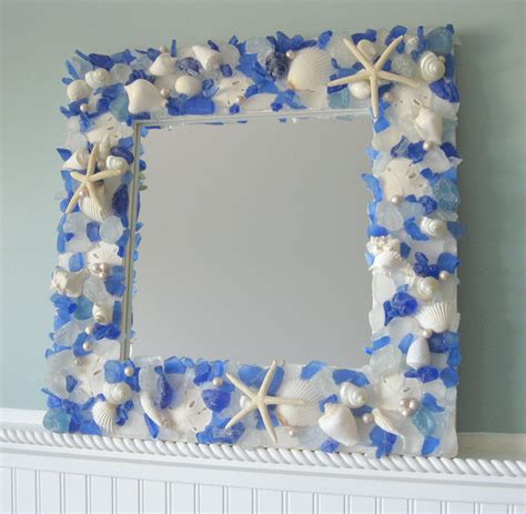 shell bathroom mirror seashell mirrors for beach decor nautical shell mirrors