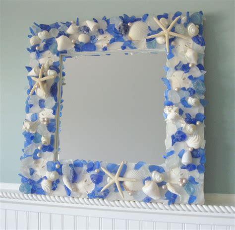 outstanding beachy bathroom diy shell mirror shell seashell mirrors for beach decor nautical shell mirrors