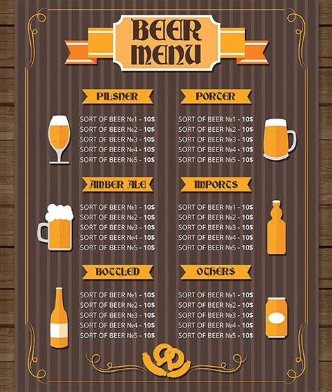 bar menu template 27 free psd ai eps vector format