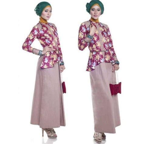 Dress Atasan Polos Rok Bunga model baju batik atasan kombinasi bawahan rok polos