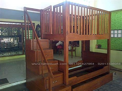 Dipan Anaka Tingkat Dan Laci Kayu Jati Dipan Minimalis Jepara dipan tempat tidur tingkat susun minimalis kayu jati