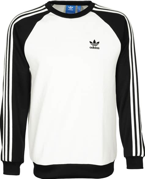 Sweater Black Addidas Basic adidas sst crew sweater white black