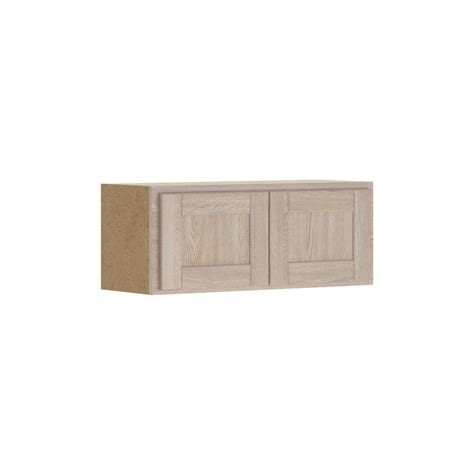 assembled 30x12x12 in wall bridge kitchen cabinet in hton bay 30x12x12 in shaker wall bridge cabinet in