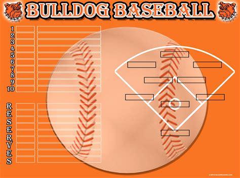 baseball position chart template baseball depth chart template gallery template design ideas
