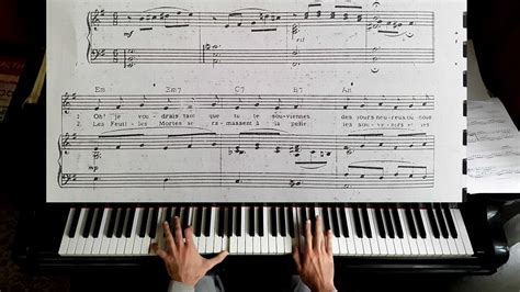 tutorial piano autumn leaves autumn leaves piano tutorial youtube
