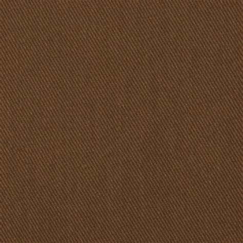 Brown Cloth 9 Oz Brushed Bull Denim Brown Discount Designer Fabric