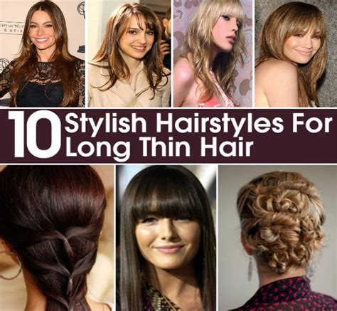 hairstyles for thin hair diy 10 beautiful and stylish hairstyles for long and thin hair