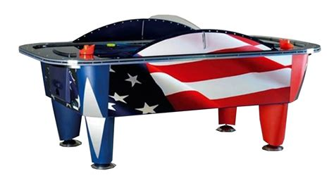 yukon patriot 8 foot commercial air hockey table liberty