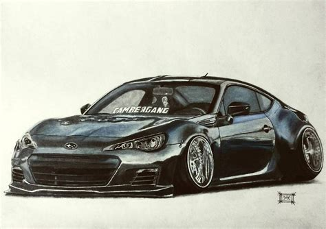 subaru stanced stanced subaru brz by artticle5 on deviantart