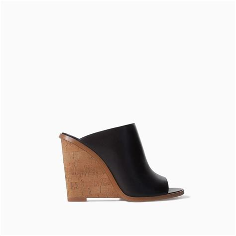 Sandal Wedges Flowy mules compens 201 es cuir li 200 ge de zara shoe mules shoes flowy dresses and leather