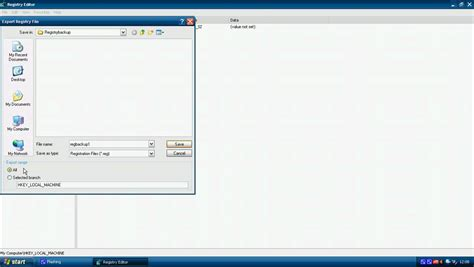 xp tutorial youtube how to backup and restore your registry in windows xp