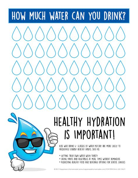 hydration chart healthy hydration water tracking chart happiness is